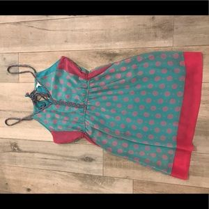 Esley turquoise and pink printed dress
